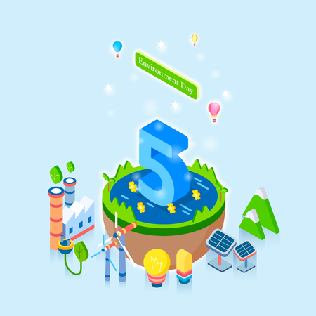 Concept for special day celebrations. 3D isometric illustration style. 004