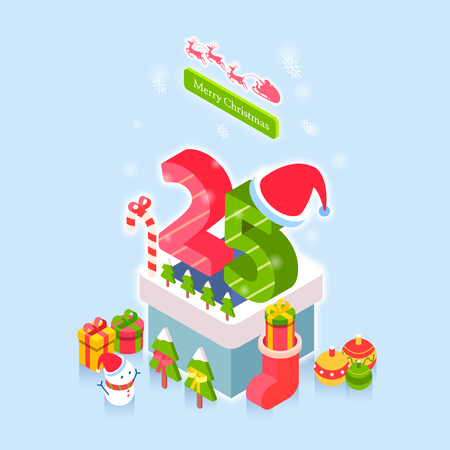 Concept for special day celebrations. 3D isometric illustration style. 002 Illustration