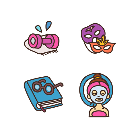 Vector - Related to life and daily flat icon set. 026 Archivio Fotografico - 106293348