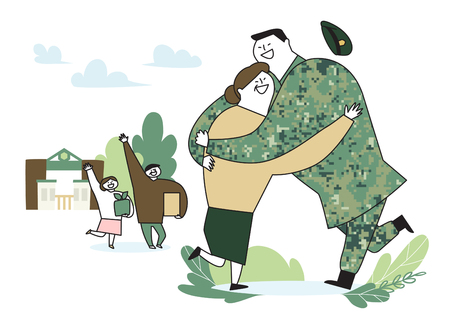 illustration of a cartoon military life 003