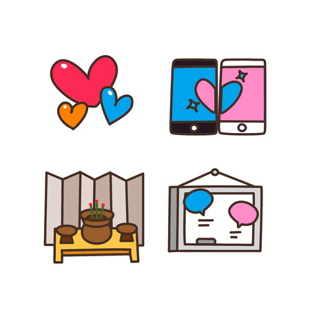 Vector - Related to life and daily flat icon set. 003