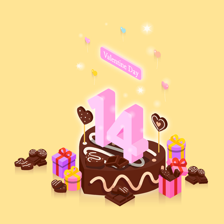 Concept for special day celebrations. 3D isometric illustration style. 001 Illustration