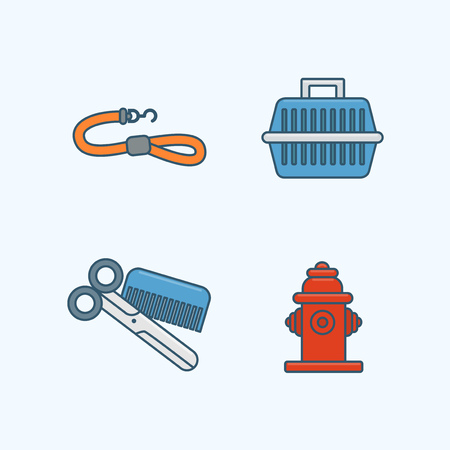 Vector - Set of Pets Related Vector Icons. Flat vector related icon for web and mobile applications 008