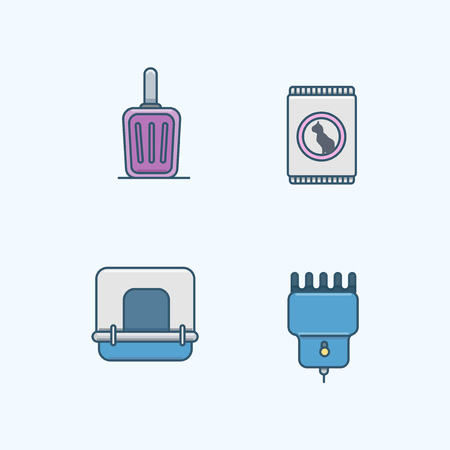 Vector - Set of Pets Related Vector Icons. Flat vector related icon for web and mobile applications 023
