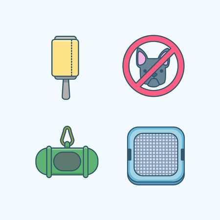 Vector - Set of Pets Related Vector Icons. Flat vector related icon for web and mobile applications 022