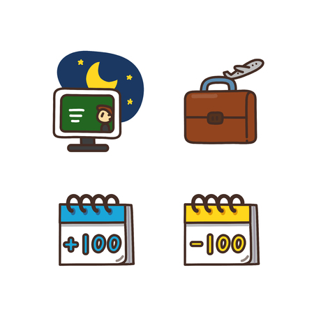 Vector - Related to life and daily flat icon set. 011