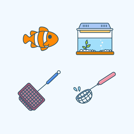 Vector - Set of Pets Related Vector Icons. Flat vector related icon for web and mobile applications 013