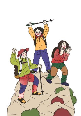 harmonious family Life, a lovely family vector illustration 012