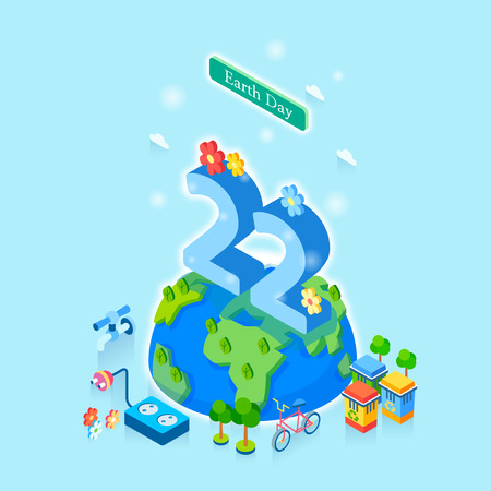 Concept for special day celebrations. 3D isometric illustration style. 018 Çizim