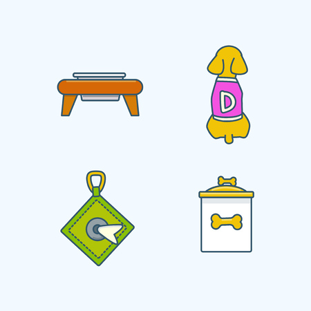 Vector - Set of Pets Related Vector Icons. Flat vector related icon for web and mobile applications 039