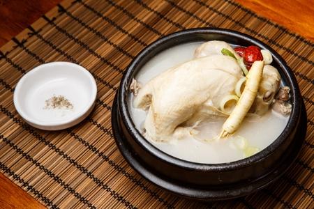Korean cuisine Samgyetang, ginseng chicken soup
