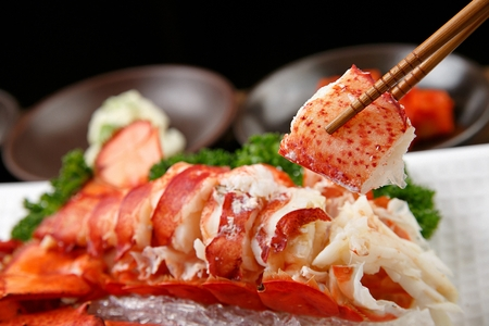 Korean-style steamed lobster Stok Fotoğraf