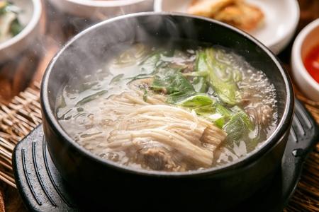 Korean cuisine Galbi tang, braised ribs stew with radish and potatoes