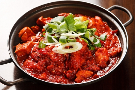 Korean cuisine Galbi Jjim, spicy braised short ribs Stock fotó