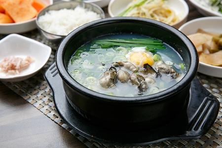 Oyster rice soup, Korean cuisine Oyster Gukbap