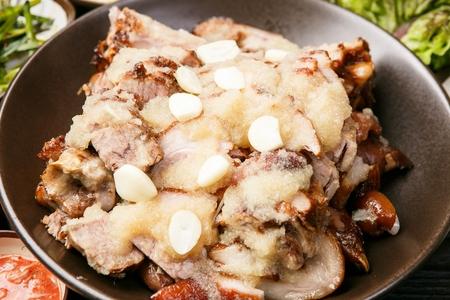 Korean cuisine jokbal, boiled pigs' feet marinated with ginger
