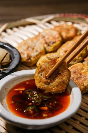 Fried meatballs, traditional Korean food