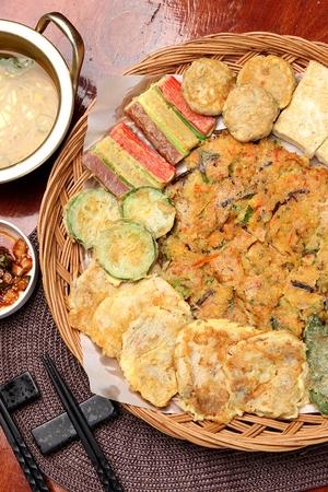 Assorted savory pancakes, Korean cuisine Jeon