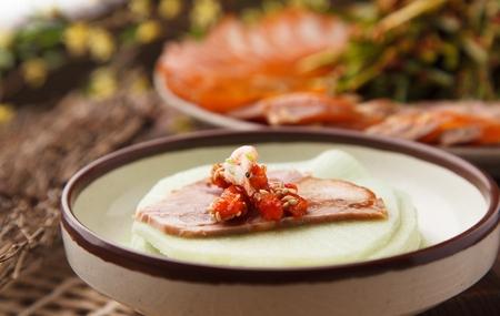 Korean cuisine jokbal, boiled pigs feet