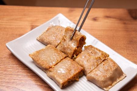 Buckwheat crepe, Korean cuisine Jeonbyeong 스톡 콘텐츠