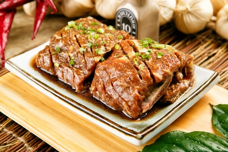 Korean barbecue Sogalbi, marinated Grilled beef ribs