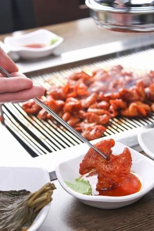 Korean barbecue Gopchang, pork tripes