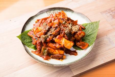 Spicy Stir-fried squid Reklamní fotografie