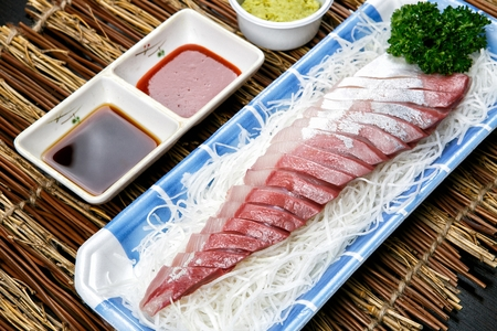 Yellowtail fish sashimi