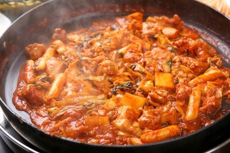 Korean cuisine dakgalbi, Spicy stir-fried chicken