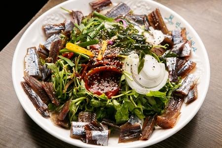 Billfish sashimi salad