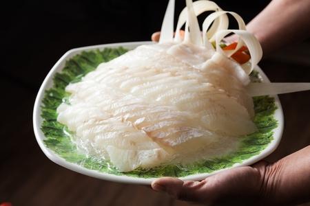 Flatfish sashimi