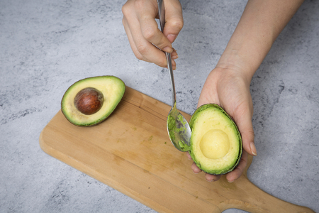Stock Photo - fresh, ripe avocado, the healthiest fruits. making salad, smoothie, oil by avocado. Perfect food for the diet. 109