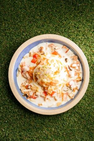 Pollack spawn cream pasta