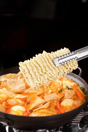 Korean cuisine Tteokbokki, instant spicy rice cakes