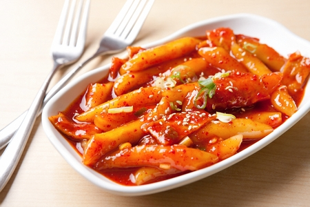Korean cuisine Tteokbokki, spicy rice cakes