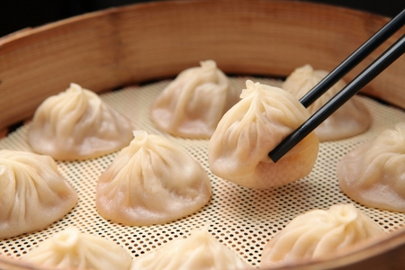 Xaiolongbao (chinese dumplings cooked in bamboo)