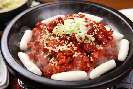 Spicy Chicken Feet Soup Korean Cuisine Stock Photo Picture And