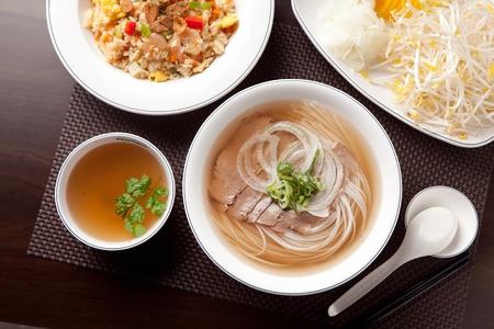 Vietnamese beef rice noodles
