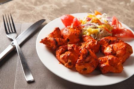 tandoori-style marinated chicken Stock Photo
