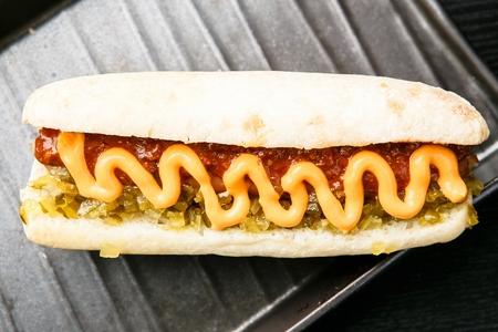 chilli cheese hotdog