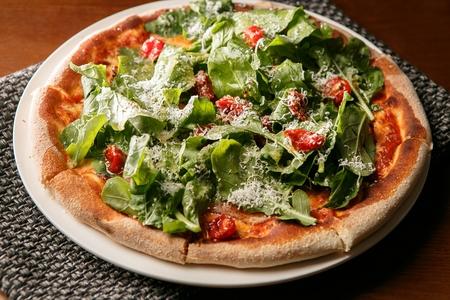 arugula (Italian herb) pizza