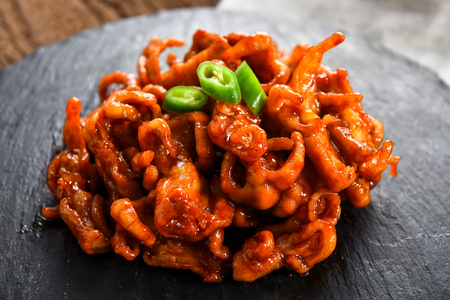 Spicy chicken feet, Korean cuisine Dakbal Banco de Imagens - 108256368