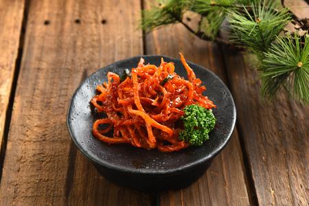 Stir-fried dried squid
