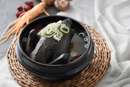 Ginseng Silky Fowl Soup (Ogolgye)