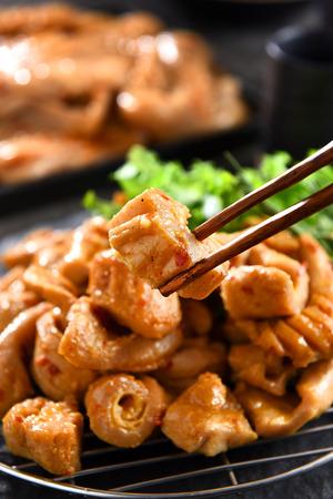 Korean barbecue beef intestine 版權商用圖片