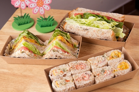 assorted whole weat sandwiches for take-out 版權商用圖片
