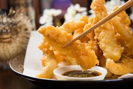 Fried Squid Stock fotó