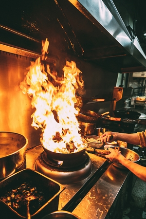 Head chef of a chinese food kitchen
