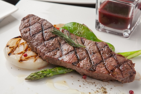 Flat iron steak 版權商用圖片
