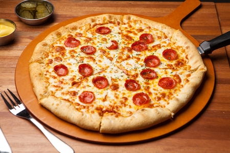 Peperoni Pizza Stock Photo